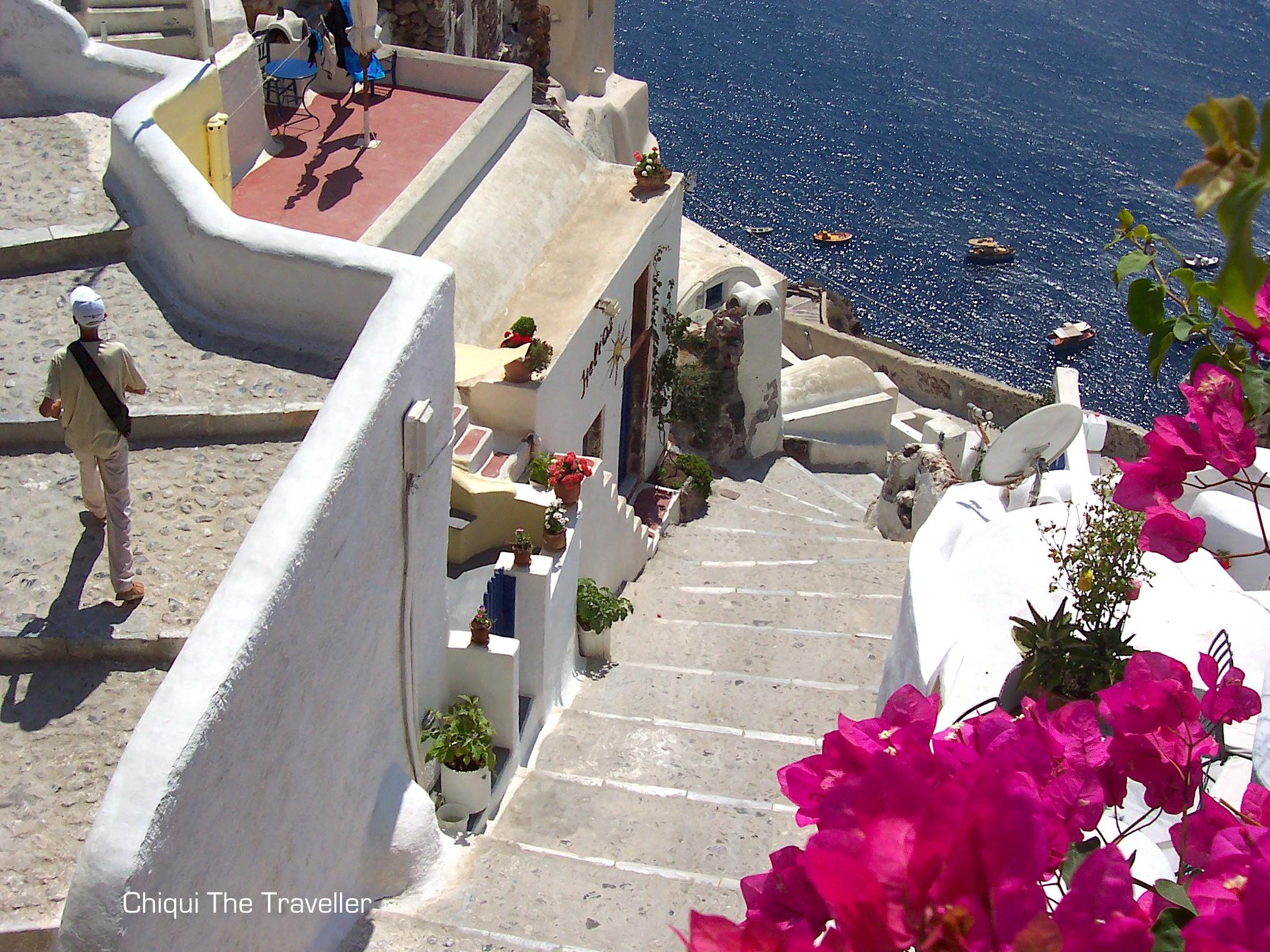 Calles de Santorini