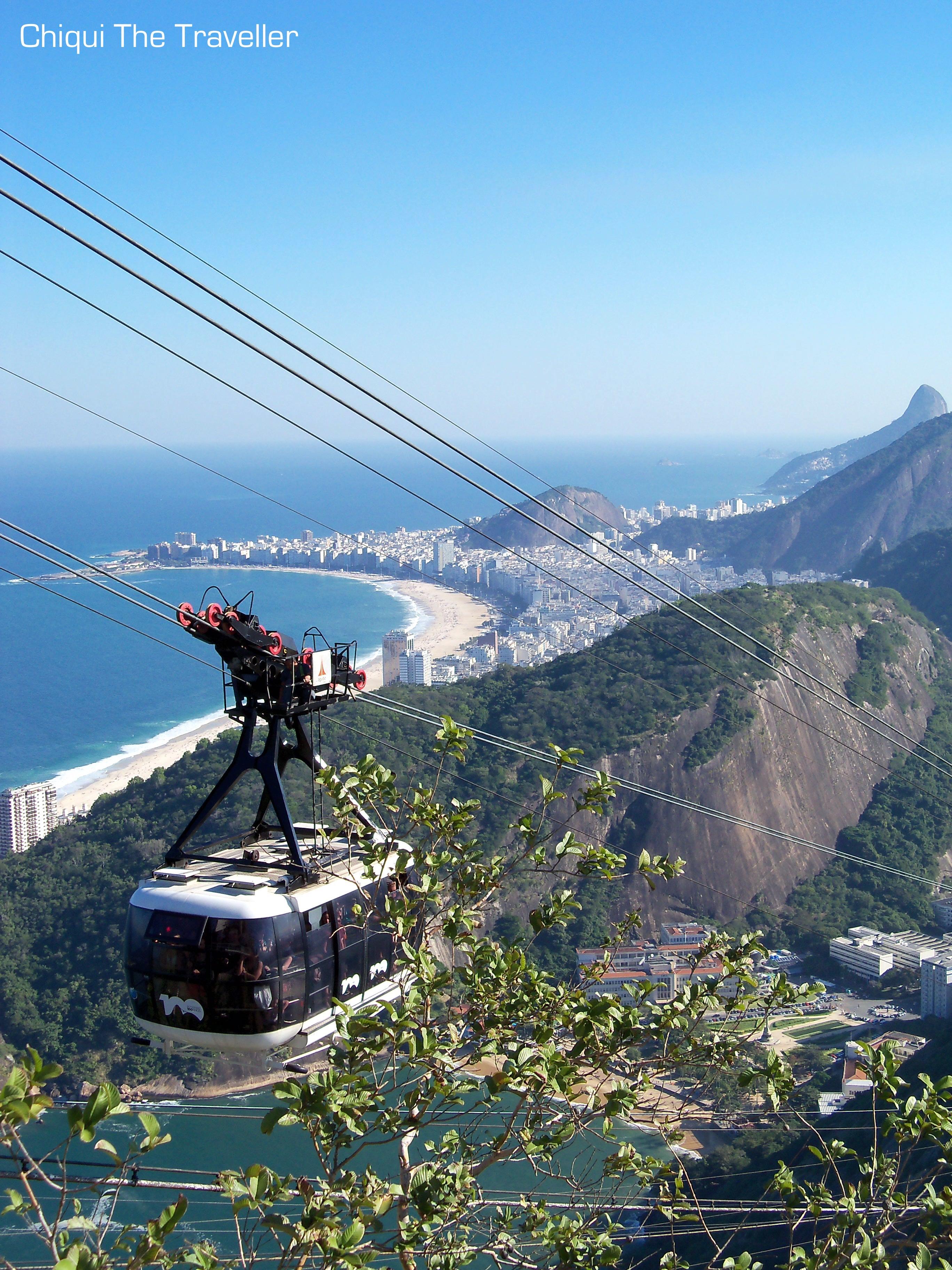 Bondinho con Copacabana al fondo